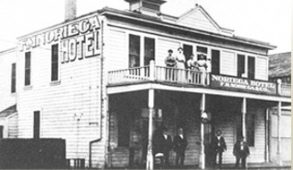The Noriega Hotel in early Bakersfield.