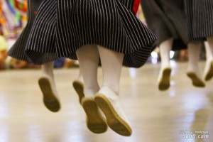 The rope-soled shoe is part of the typical Basque dancer's costume. Photo by Jon C. Hodgson.  http://www.BasquePhotos.com