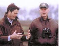 John Garamendi with then-President Bill Clinton. Garamendi served as deputy interior secretary in the Clinton Administration. Photo from Garmandi website.