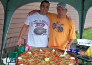 The paella was enough to feed 70 people at the Rhode Island Basque Club picnic. Photo: Courtesy of the club.