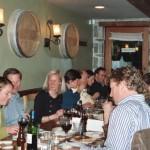 Enjoying Basque food at The Harvest Vine restaurant in Seattle. Photo: Euskal Kazeta.