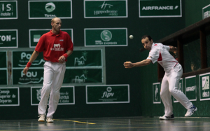 The handball action has been exciting at the championship tournament. Photo: International Federation of Basque Pelota.